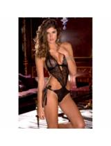 Lace Front Tie Back Teddy